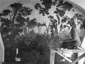 фрески на стену, роспись стен, мозаичное панно